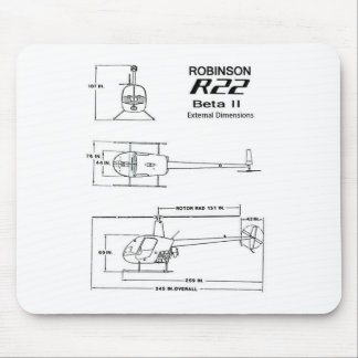 Robinson R-22 Mouse Mat