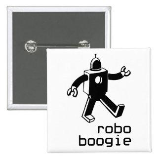 Robo Boogie 15 Cm Square Badge