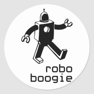 Robo Boogie Classic Round Sticker