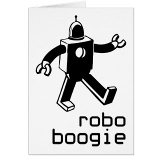 Robo Boogie Greeting Card