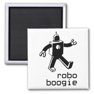 Robo Boogie Refrigerator Magnet