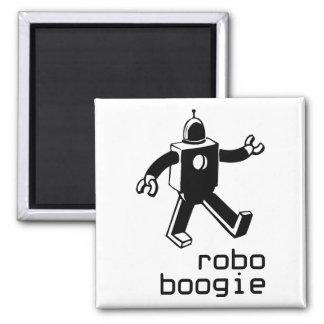 Robo Boogie Square Magnet
