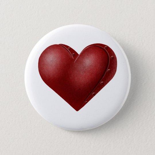 Robo Heart 6 Cm Round Badge