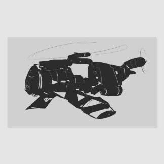 Robo Helicopter Rectangular Sticker