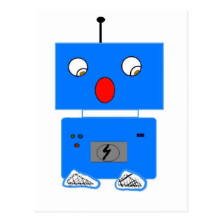 ROBO IN SHOCK POSTCARD