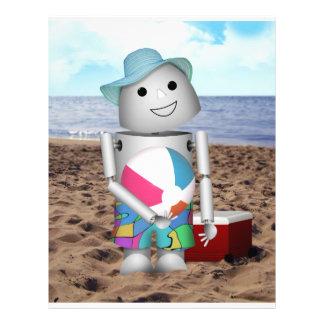 Robo-x9 At The Beach Flyer Design
