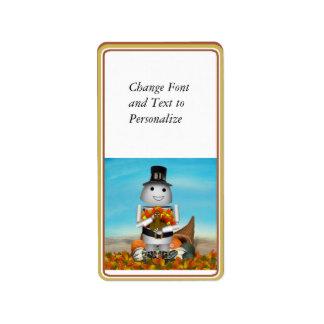 Robo-x9 Celebrates Thanksgiving Address Label