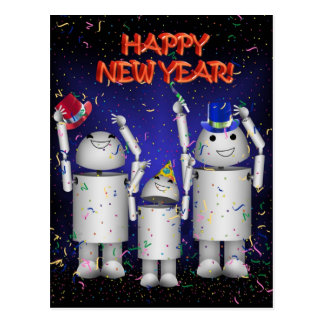 Robo-x9 & Family Celebrate the New Year! Postcard