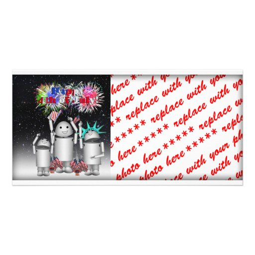 Robo-x9 & Family Celebrates the 4th of July Photo Greeting Card
