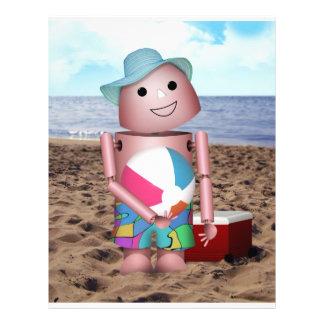 Robo-x9 Sunburned Beach Scene Flyer