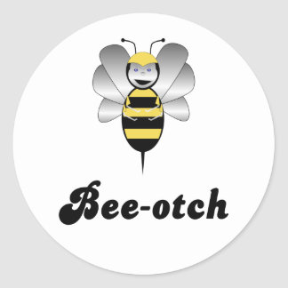 Robobee Bumble Bee Bee-otch Sticker