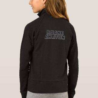 Robocat black sweat jacket
