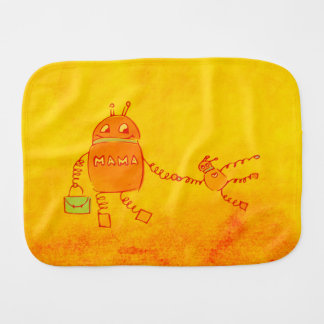 Robomama Geek Robot Burp Cloth