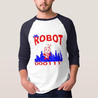 """Robot 000111"""" Pizza Box T-Shirt"""