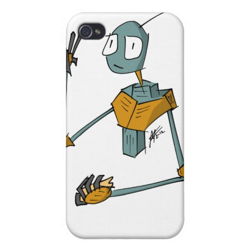Robot 13 for 4/4S Covers For iPhone 4