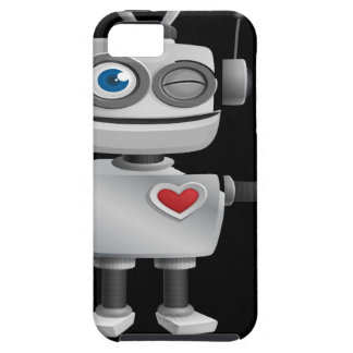 """Robot 1"" in black Tough iPhone 5 Case"