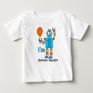 Robot 1st Birthday Party Tee Shirt