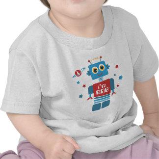 Robot 1st Birthday Tee Shirts