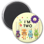 Robot 2nd Birthday tshirts and Gifts Magnet