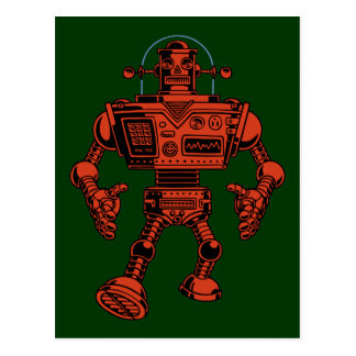 Robot 313 -red postcard