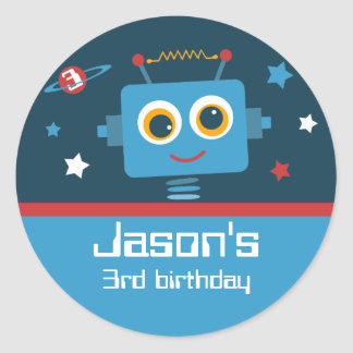 Robot 3rd Birthday Custom Stickers