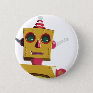 Robot 6 Cm Round Badge
