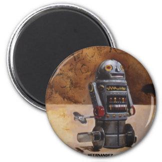 ROBOT 6 CM ROUND MAGNET