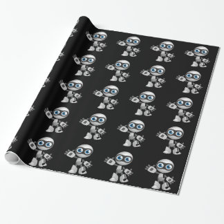 """""""Robot 6"""" in black Wrapping Paper"""