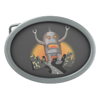 Robot Attack Belt Buckles