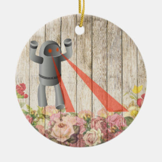 Robot attack christmas ornament