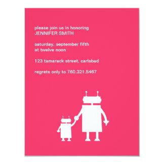 Robot Baby Girl Shower Invite