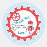 Robot Baby Shower |  Favour Sticker