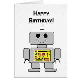 """Robot"" Birthday Card"