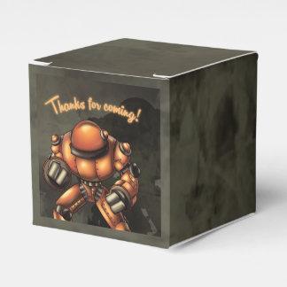 """Robot Birthday Favor Box Classic 2x2"" Favour Box"