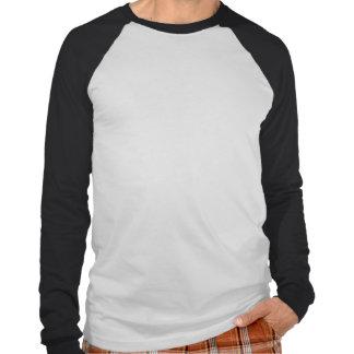 Robot black and white mens baseball tshirt