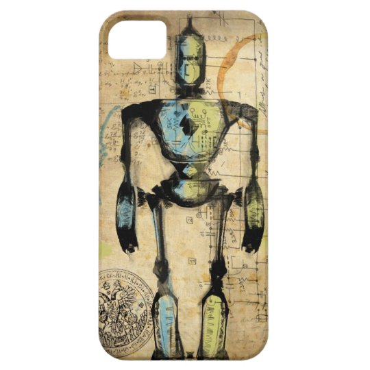 Robot Blueprint #1 Barely There iPhone 5 Case