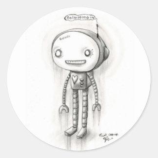 Robot Boy Classic Round Sticker