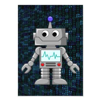 robot cartoon card
