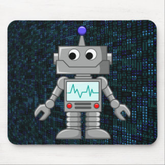 robot cartoon mouse mat