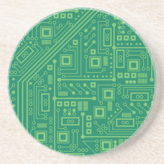 Robot Circuit Board Beverage Coasters