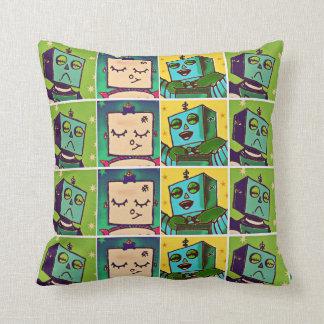 Robot Comic Art Throw Pillow