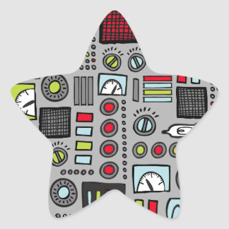 Robot Controls 3000 Star Sticker