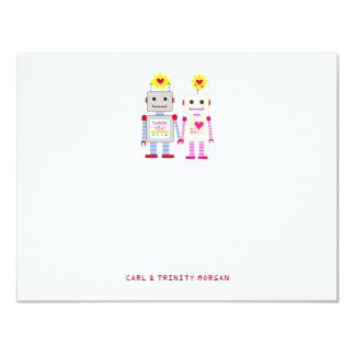 Robot Couple Thank You Note Cards