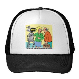 Robot Coworker Cartoon Cap