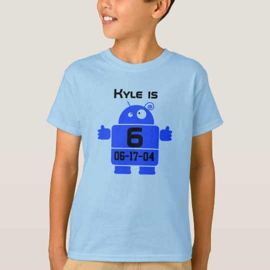 Robot Customisable Birthday T-shirt