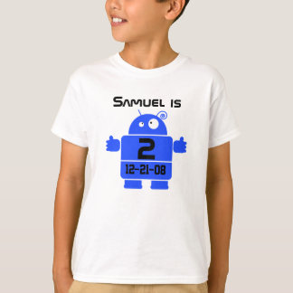 Robot Customizable Birthday T-shirt