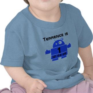 Robot Customizable Birthday T-shirt