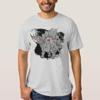 Robot Cyborg Stegosaurus Dinosaur T-Shirt