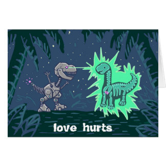 robot dino love card