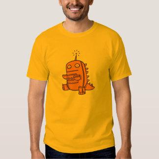 Robot Dino - Orange T Shirt